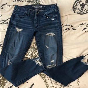American Eagle Super Stretch Ripped Jeans